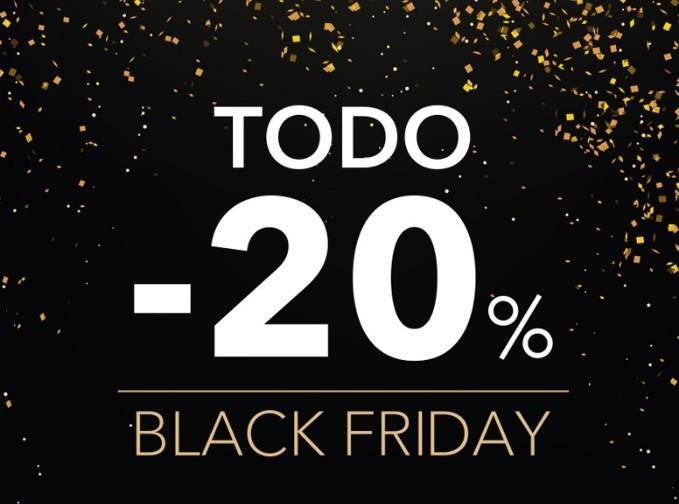 Descuentos del 20% en todos nuestros productos con motivo del Black Friday
