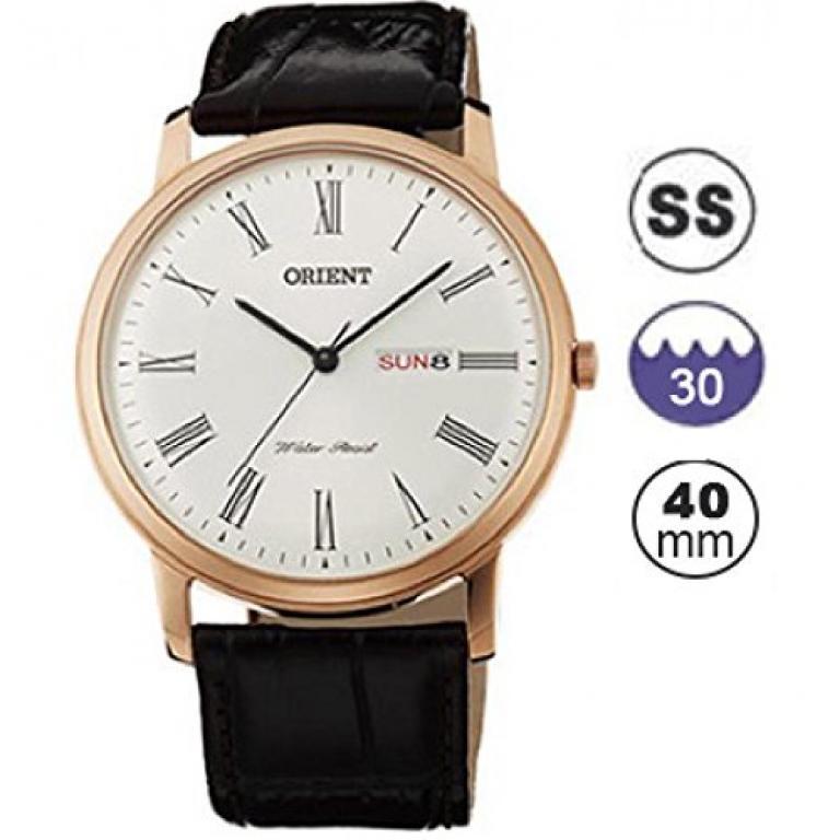 Orient Reloj Análogo clásico para Hombre de Cuarzo con Correa en Cuero FUG1R006W6