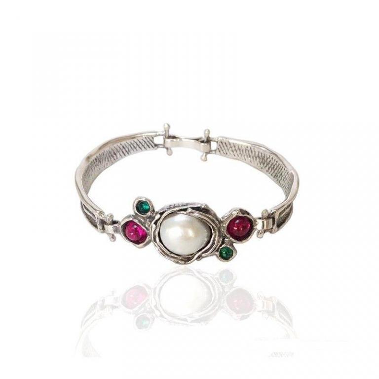 Altana pulsera plata perlas barroca