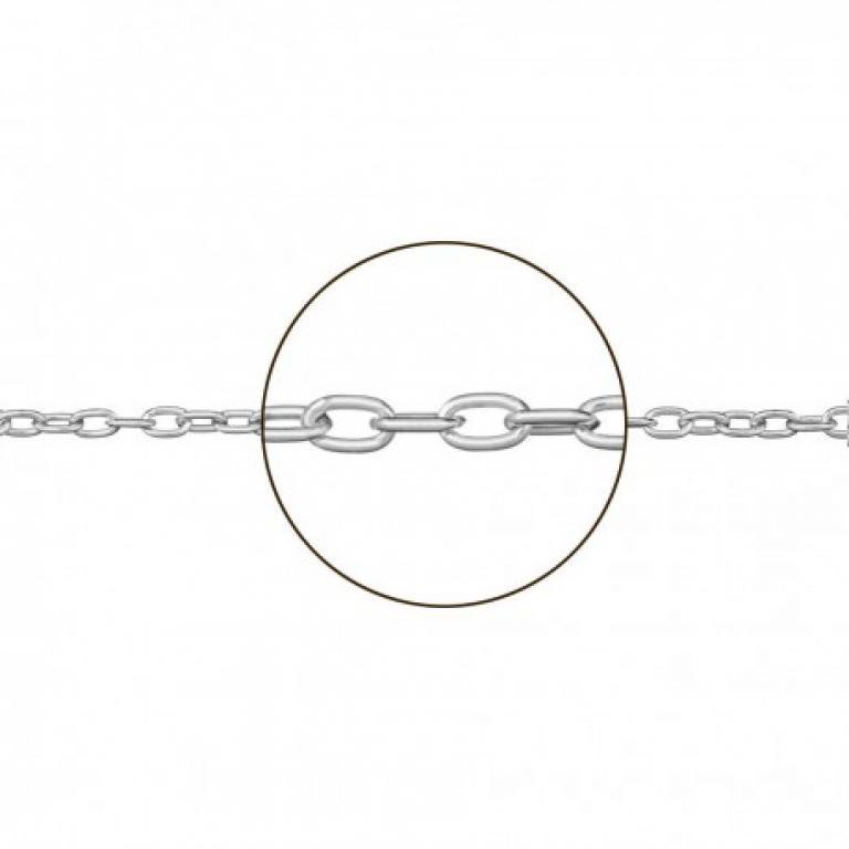 Cadena forzada plata 50 cm