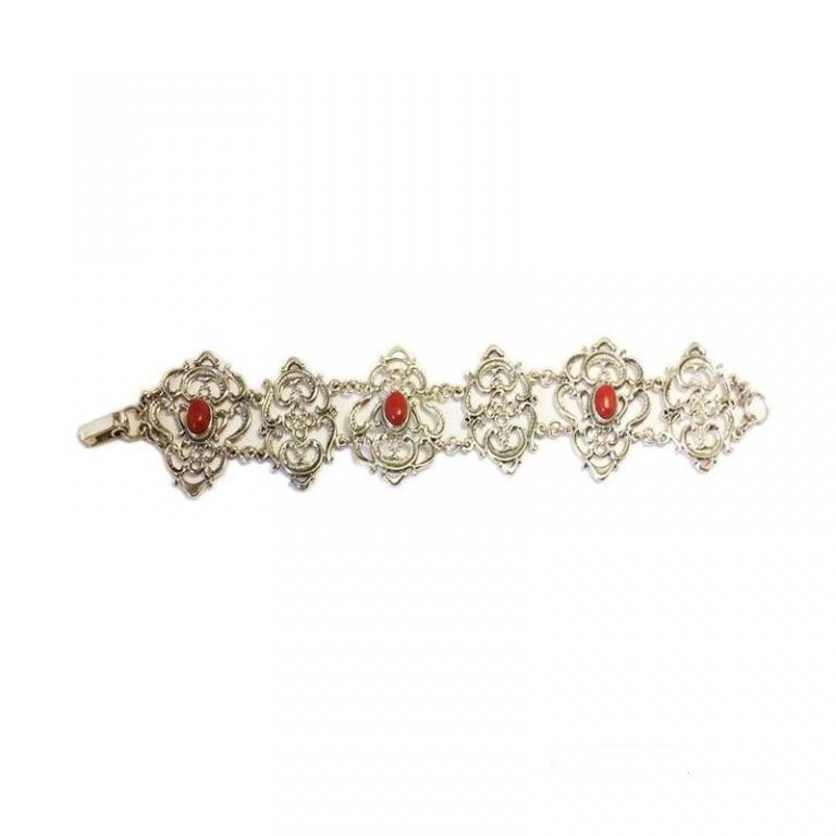 Altana pulsera plata coral vintage